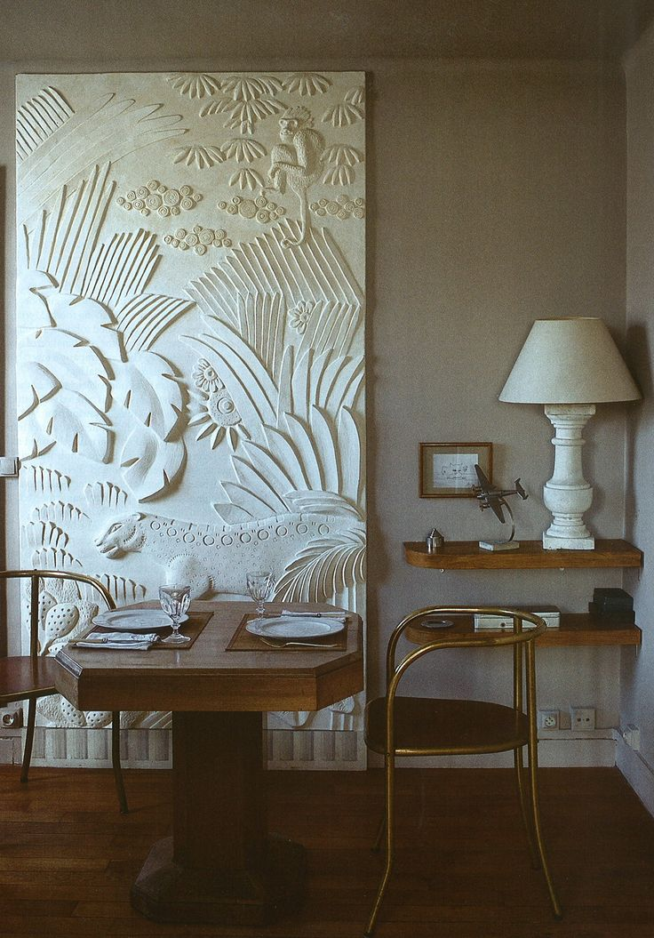 Bas relief sculpture artist Myriam Chataignereu0027s
