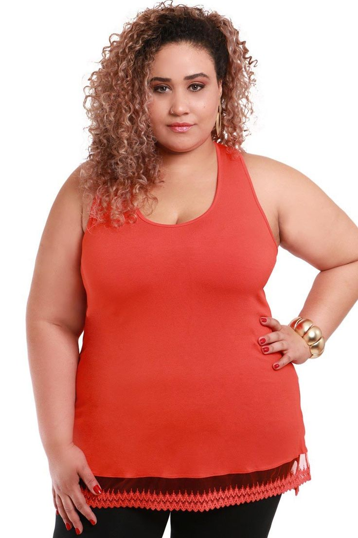 Regata Plus Size com renda