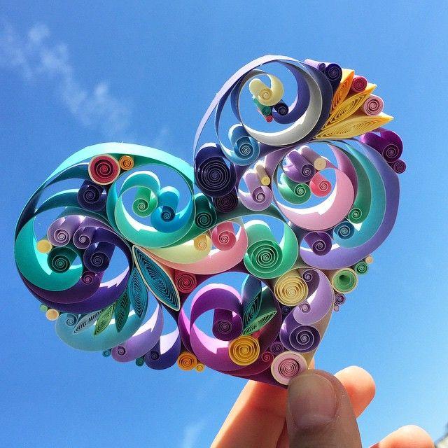 紙をクルクルして作る繊細で装飾的なペーパークイリングアート (1)