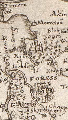 Findhorn Scotland Map.Medieval Map Of Scotland With Forres One Of The Main Settings In