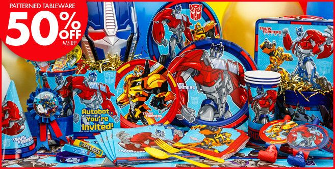 Transformers Party Supplies - Transformers Birthday - Party City...lots of stuff here