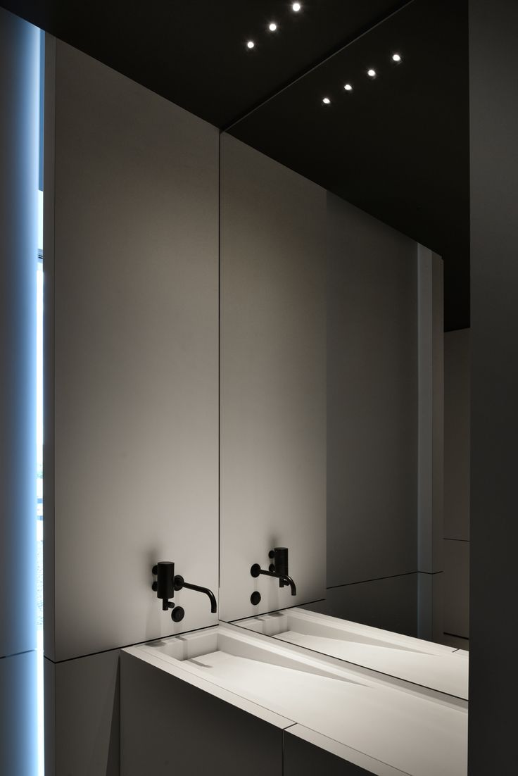 Wash basin in the Kreon Lighting HQ in Belgium