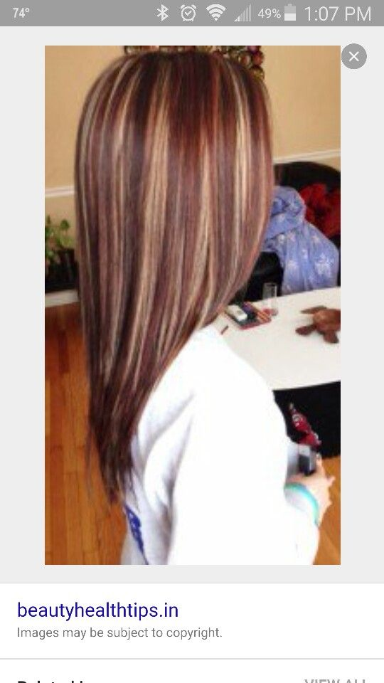 Highlights and low lights. Red brown blonde