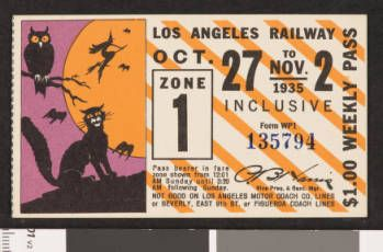 Los Angeles Railway weekly pass, 1935-10-27 :: LA as Subject