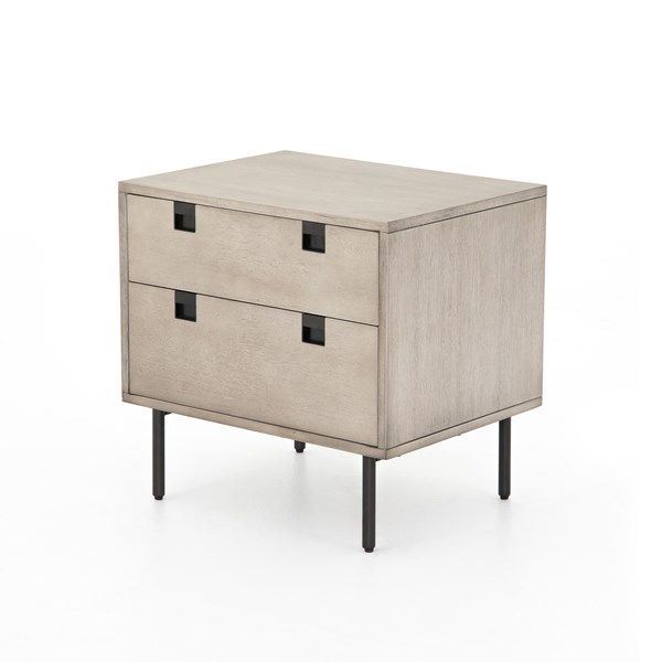 Bedroom Carly 2 Drawer Nightstand Grey Wash In 2020 2 Drawer