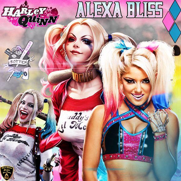 made this awesome alexa bliss wallpaper hope u all enjoy Black lightning