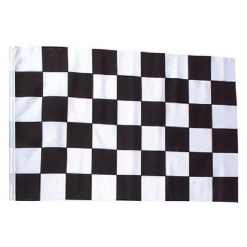 Racing Checkered Black White Racecar Nascar Flag Banner Finish Line Party Decor