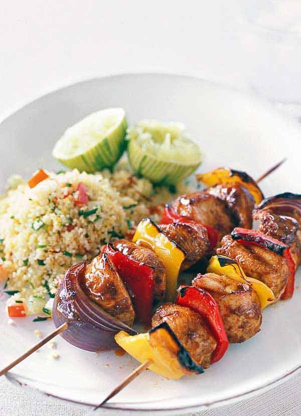If you love the spicy taste of jerk seasoning, then these jerk chicken kebabs are a perfect, easy way to bring the flavours of the Caribbean into your own house. Serve the chicken and pepper skewers with couscous or rice