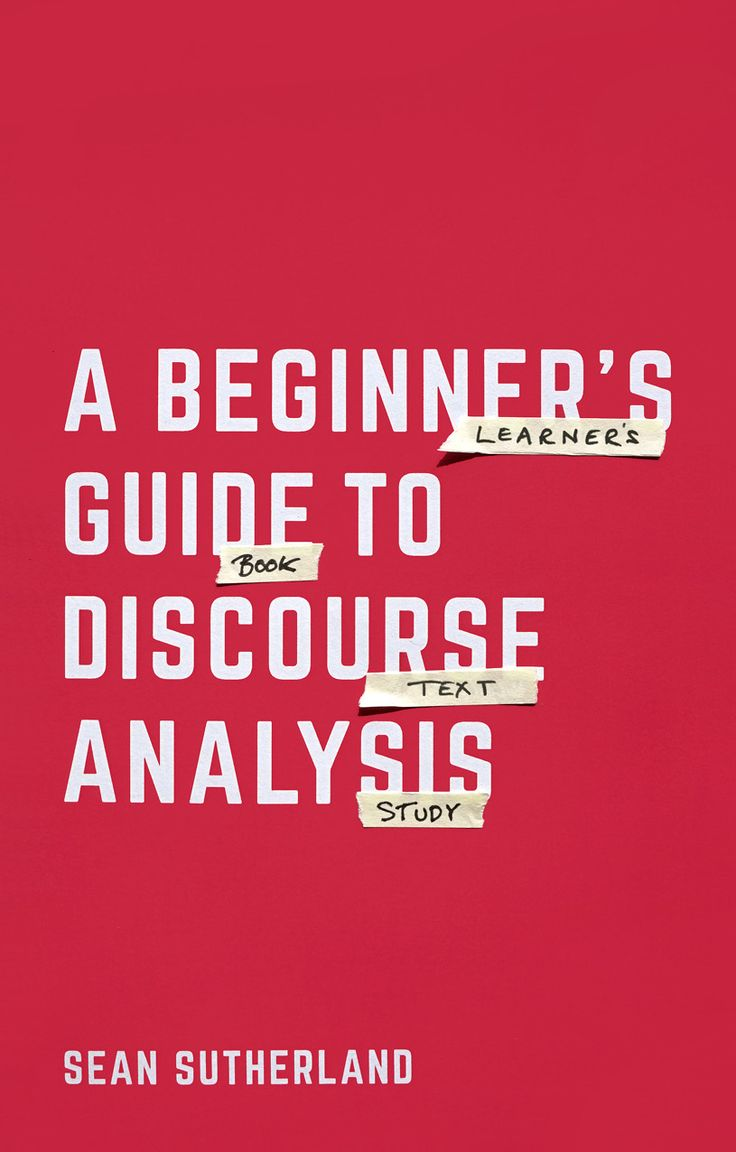 A Beginner's Guide to Discourse Analysis book cover ©Palgrave Macmillan