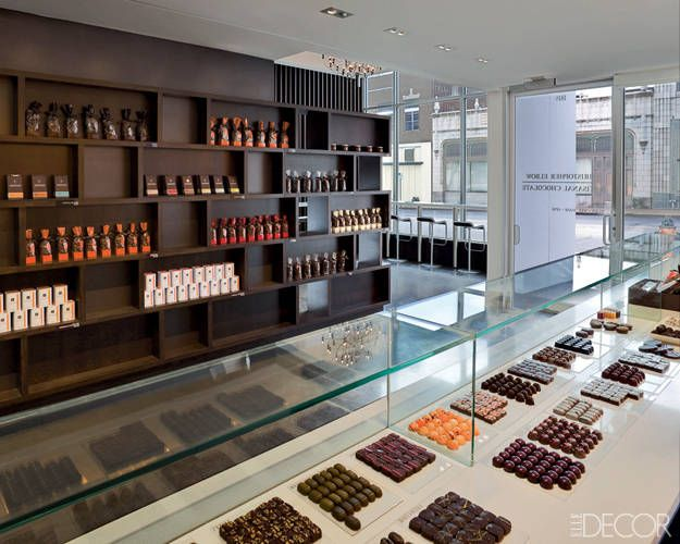 Christopher Elbow Artisanal Chocolates - very delicate displays in the chocolate shop.