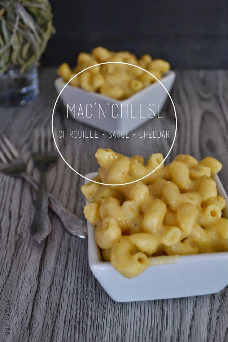 Healthier Mac N Cheese W/ Pumpkin Puree, Sage and Sharp Cheddar | Macaroni au Fromage Santé Citrouille, Sauge, Cheddar Vieilli — PasDeLaTarte.Ca