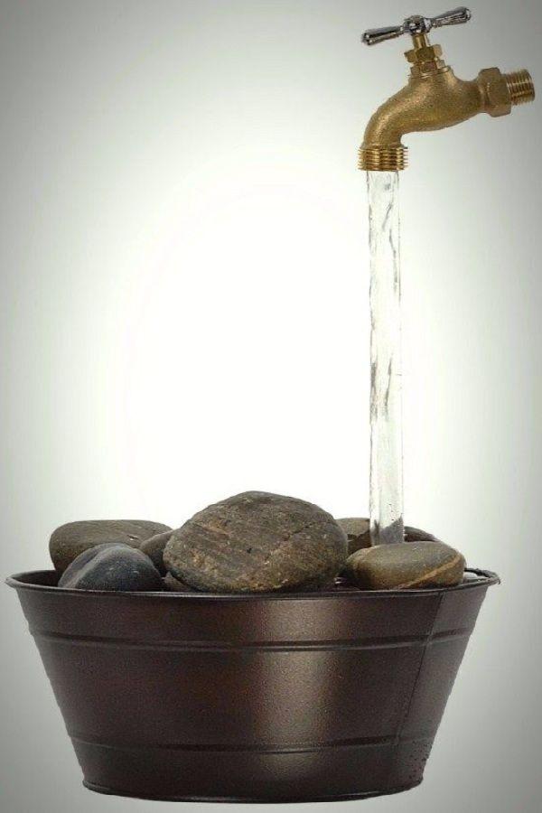 This DIY Magic Faucet Fountain seems to