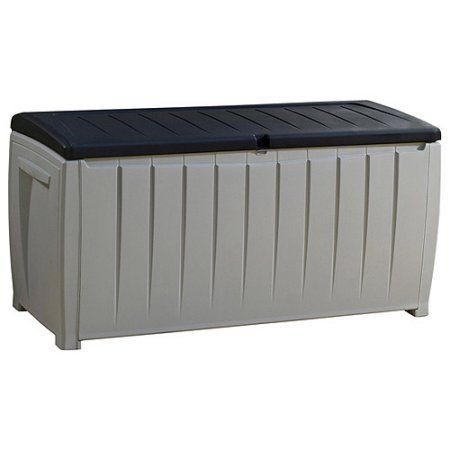 keter novel plastic deck storage container box outdoor patio furniture 90 gal brown to view further for this item visit the image link