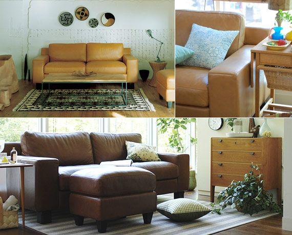 IDEE Original Leather Sofa / イデーオリジナル レザーソファデザイン家具 インテリア雑貨 - IDEE SHOP Online