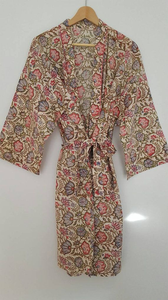 Check out this item in my Etsy shop https://www.etsy.com/au/listing/471966838/cotton-block-printed-bathrobe
