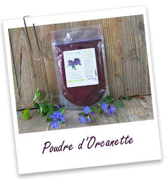 Colorant végétal Orcanette en poudre Aroma-Zone - reflets acajou