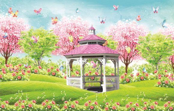 Fundo Fotográfico em Tecido Jardim Encantado 2,80x1,50 no Elo7 | MIX Fundos  Fotográficos (108E205) | Fundo fotografico, Jardim encantado, Jardim