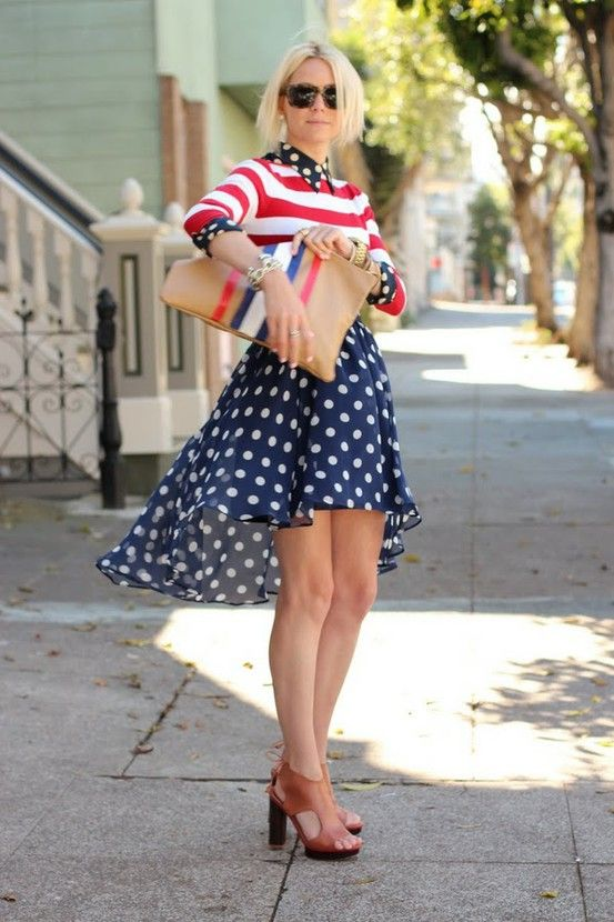 I love how different this outfit is from other 4th of July outfits I've seen.