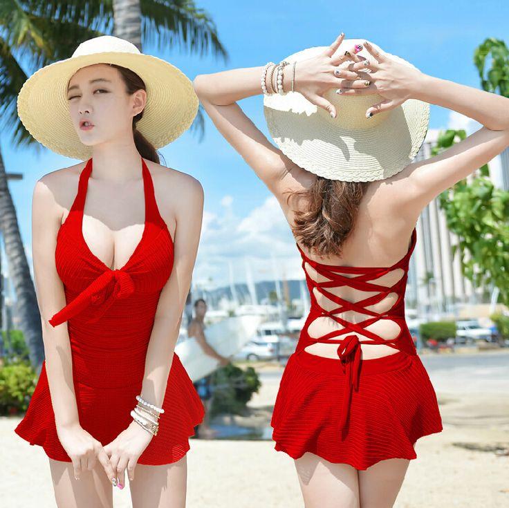 2014 new summer plus size bathing suit XXL one piece swimsuit push up women swimwear halter sexy beach wear dress