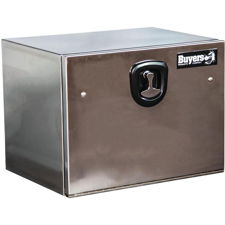 Buyers Products Company 30 in. Polished Stainless Steel Underbody Tool Box, Silver