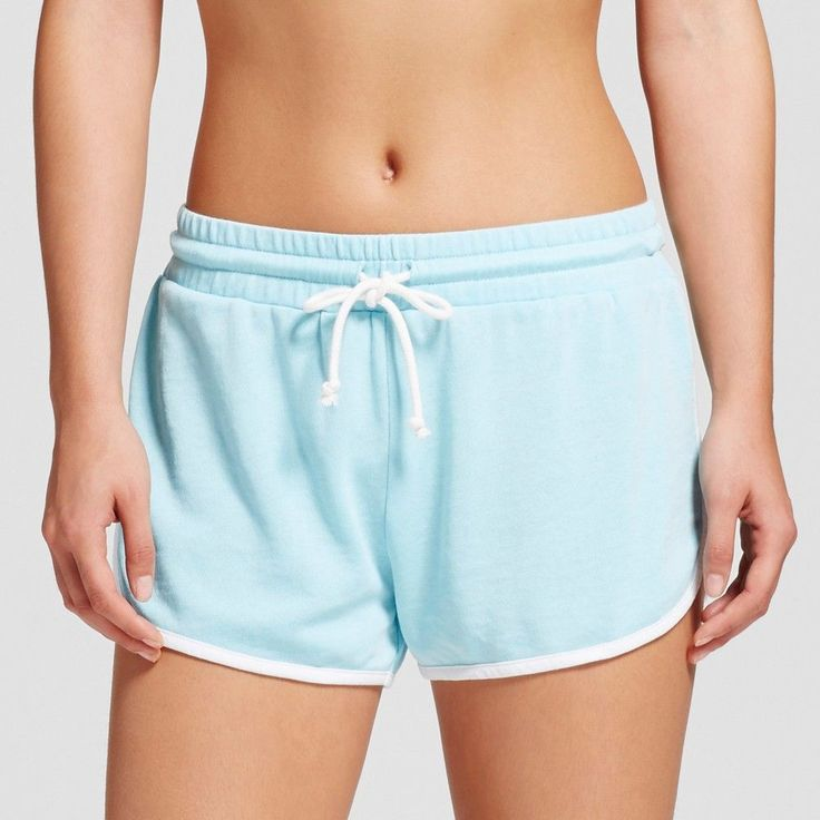 Sleep Shorts Grayson Threads L Soft Turquoise, Women's, Blue