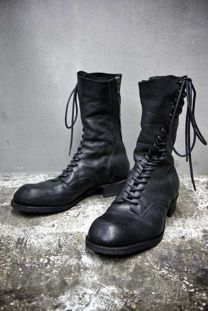 Julius Cow Leather Twisted Spiral Military Boots 3 43 44 317FWM5 Julius_7 Rick