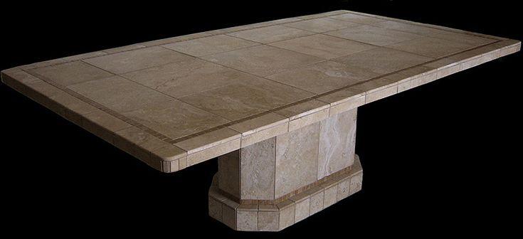 Roma Oval Stone Mosaic Tile Table Base