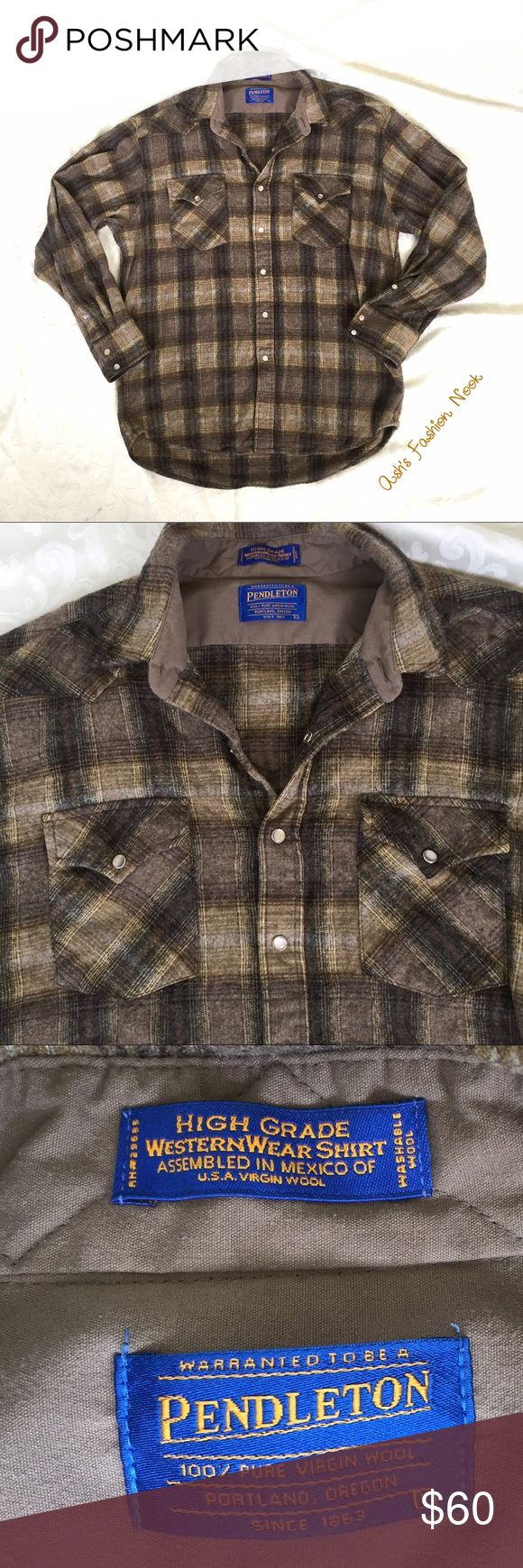 💠New Listing💠 Pendleton-Virgin Wool Shirt 🌸EUC! Perfect, washable virgin wool, button down shirt! It has pearl colored snap buttons. It measures 20.5 inches shoulder to shoulder, 24 inches from pit to pit, and 30 inches in length.🌸📦Bundle all the items you like, and I will send you a personalized, no obligation, offer!📦 Pendleton Shirts Casual Button Down Shirts