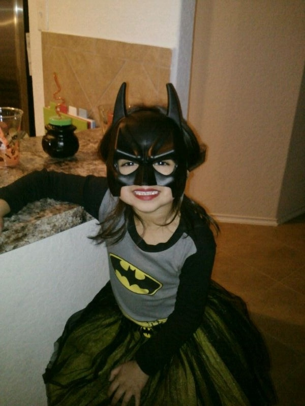 My beautiful daughter !! Girls can be a super hero also
