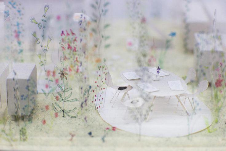 Arc-en-Rêve Centre d'Architecture, Galerie d'Exposition, Bordeaux, Exposition « Petit? Grand? L'Espace Infini de l'Architecture - Junya Ishigami » © Rodolphe Escher
