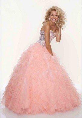 b7ecc542216 luxusní lososové plesové šaty na maturitní ples Viola XS-M