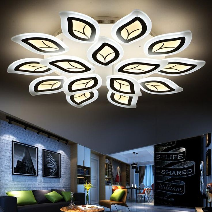 Creative Lustre Modern LED Ceiling Light Fixtures Acrylic Ultra Thin Home  Lighting Decorative Living Room Lamp