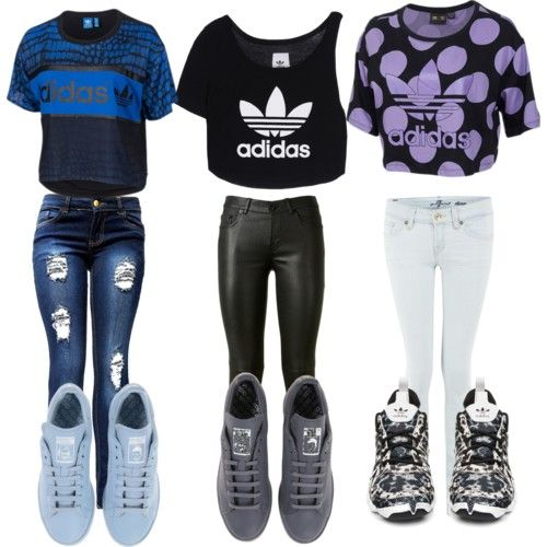 adidas by atania1390 on Polyvore featuring polyvore art