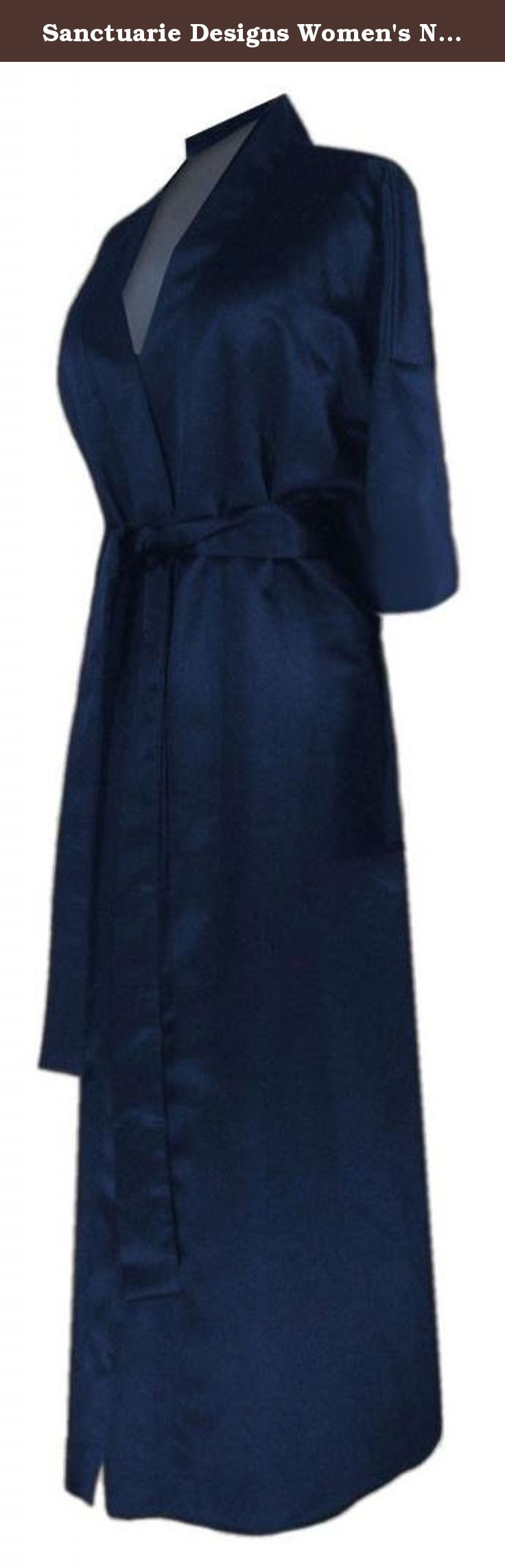 Sanctuarie Designs Women's Navy Satin Plus Size Supersize Robe/3x4x/Navy/. Women's Plus Size & Supersize Satin Sleepwear Robe. Our sizes differ from most stores. Please look at our size chart in the product description for the following: Bust(Chest), Hips and Length measurements. Available in plus & supersizes from 0x to 9x! This style is very flattering! It is machine washable, and travels great! Very comfy and glamorous robe, perfect for a gift to give or keep for yourself.