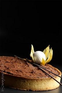 Coffee truffle tart