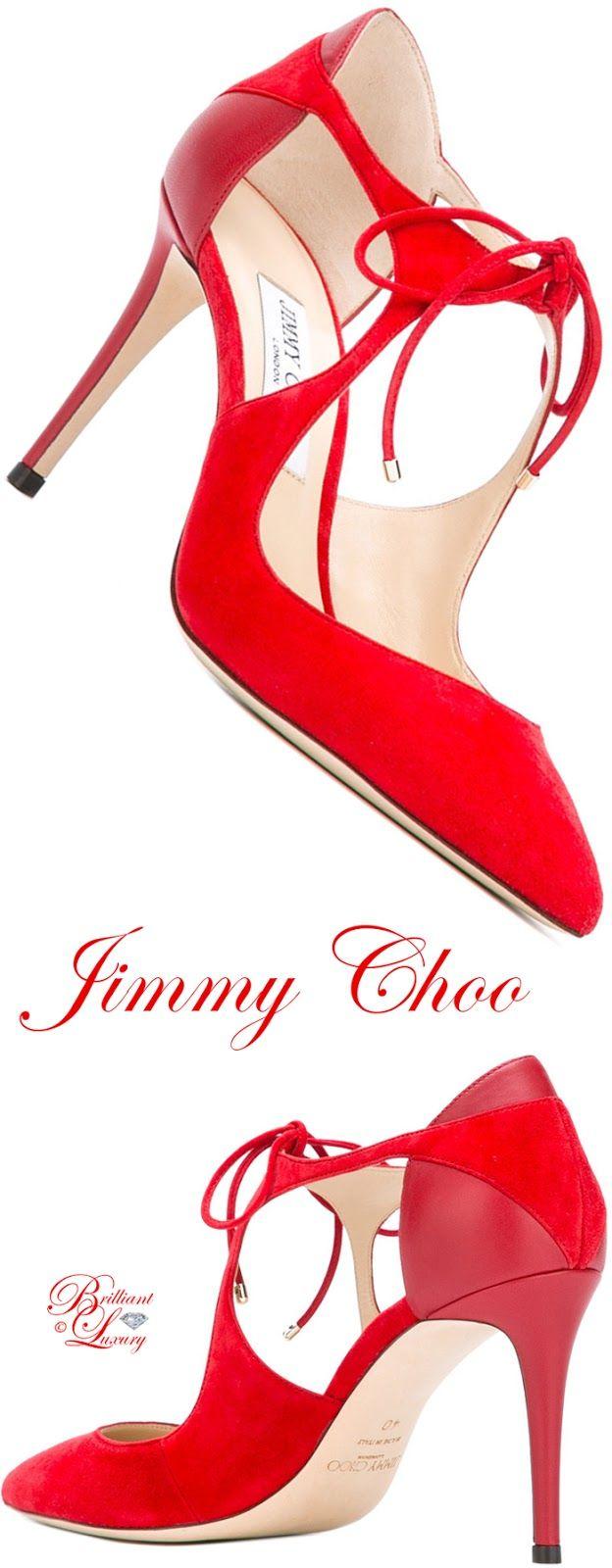 Brilliant Luxury by Emmy DE ♦ Jimmy Choo Tie-Front Pumps