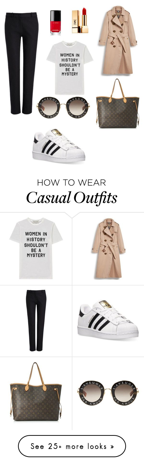 """""""smart casual"""" by okonig on Polyvore featuring Joseph, adidas, Burberry, Être Cécile, Louis Vuitton, Chanel, Yves Saint Laurent, Gucci, purplepower and internationalwomensday"""