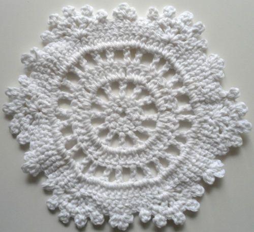Free Crochet Snowflake Potholder Pattern : White Snowflake ~ free pattern crochet snowflakes ...