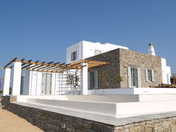 Βήμα 13ο, Εξωτερικές διαμορφώσεις - Architect Thalassinos- Paros Island Greece