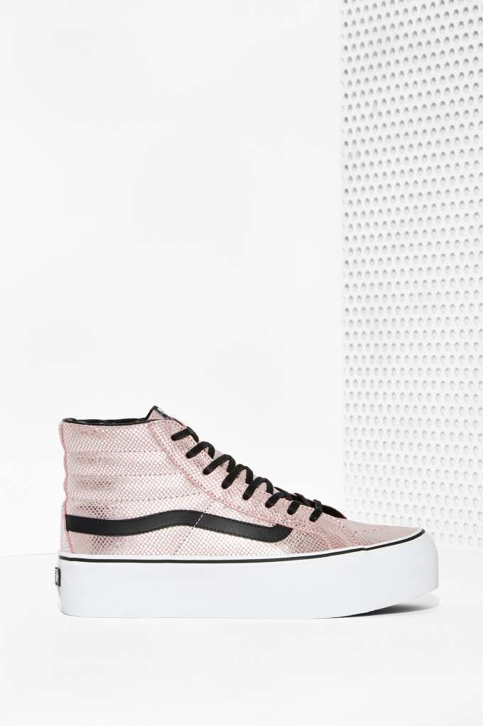 Vans Metallic Snake Sk8 Hi Platform Sneaker | Shop Shoes at Nasty Gal!