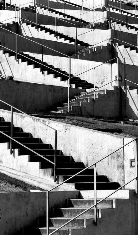 pinterest.com/fra411 #stairs - Awaji yumebutai international conference center, Awaji, Hyogo, Japan, 1995 by Tadao Ando.