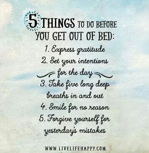 Before You Get Out of Bed