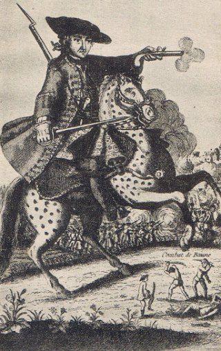 Portrait de Louis Mandrin, à cheval
