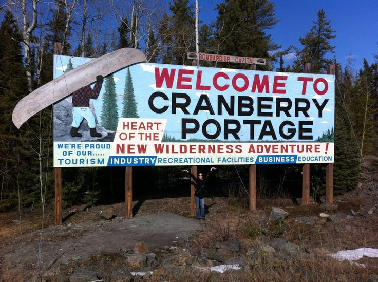 Cranberry Portage, Manitoba - a small town named by David Thompson