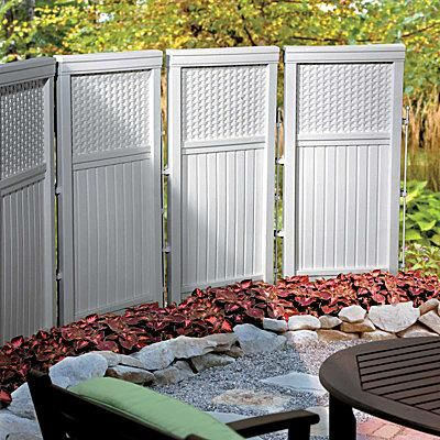 Best 25 outdoor privacy panels ideas on pinterest for White outdoor privacy screen