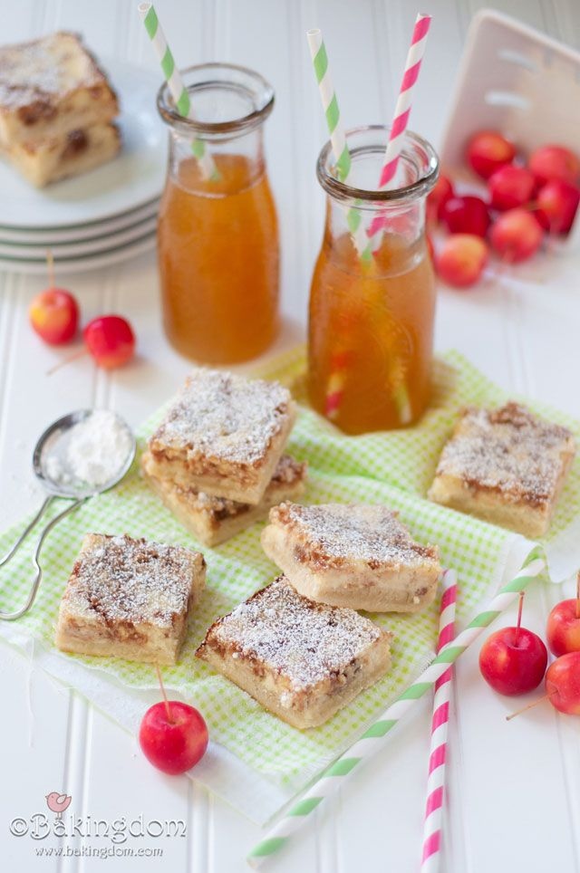 Apple Cider Cheesecake Shortbread Bars - all the yummy things from my kitchen made friends with each other. Good friends.