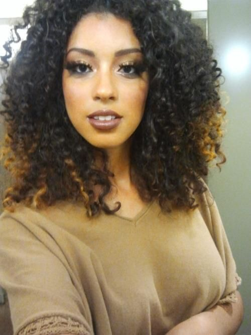 Beautiful Girls, with Curly hair I love the color hmmmm....I may have to try this for Winter