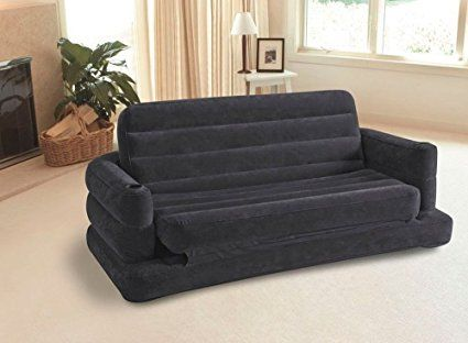 amazoncom intex sectional sleeper sofa futon living room furniture couch bed loveseat - Futon Living Room Set