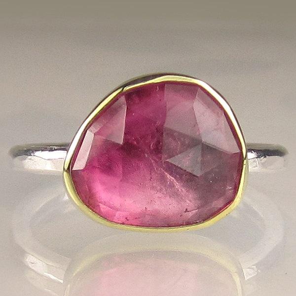 Pink Tourmaline ring by JanishJewels