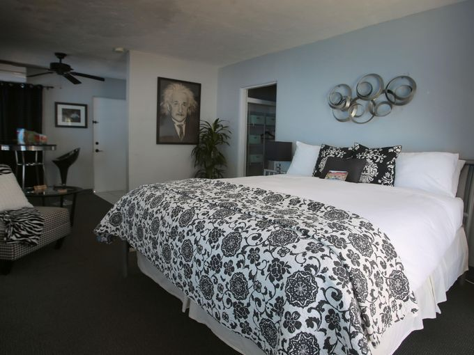 All rooms are furnished with California King beds suitable for 2 adults.